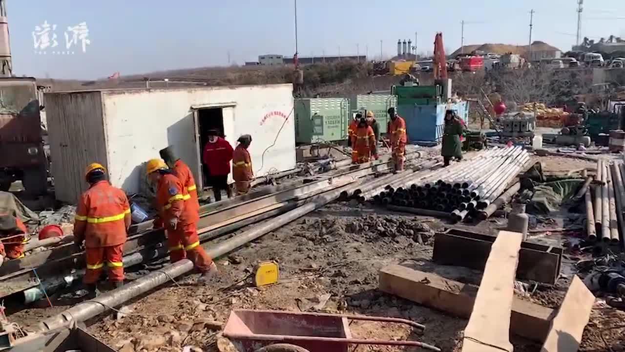 山东栖霞金矿事故救援现场进展:小米粥、保温毯已送到井下